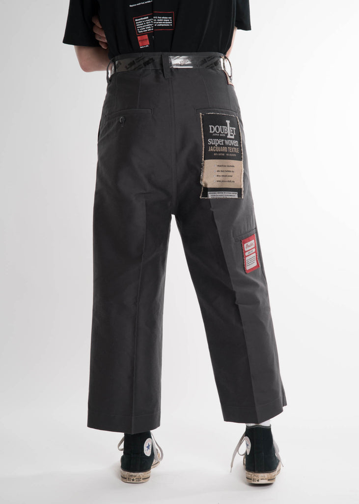 Dark Grey Deadstock Jacquard Pant