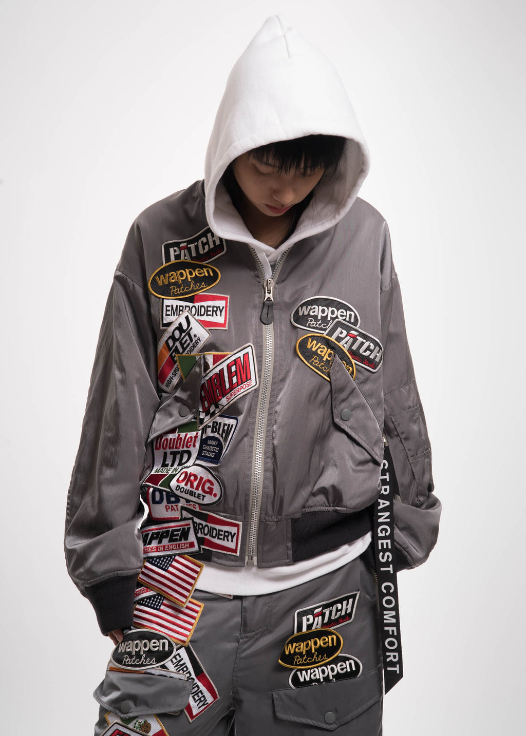 Grey Chaos Patches Bomber