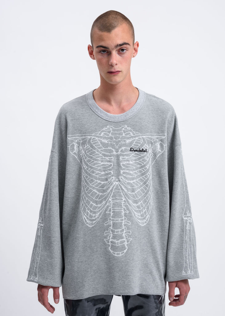 Doublet, Grey Skeleton Embroidery Thermal, 017 Shop