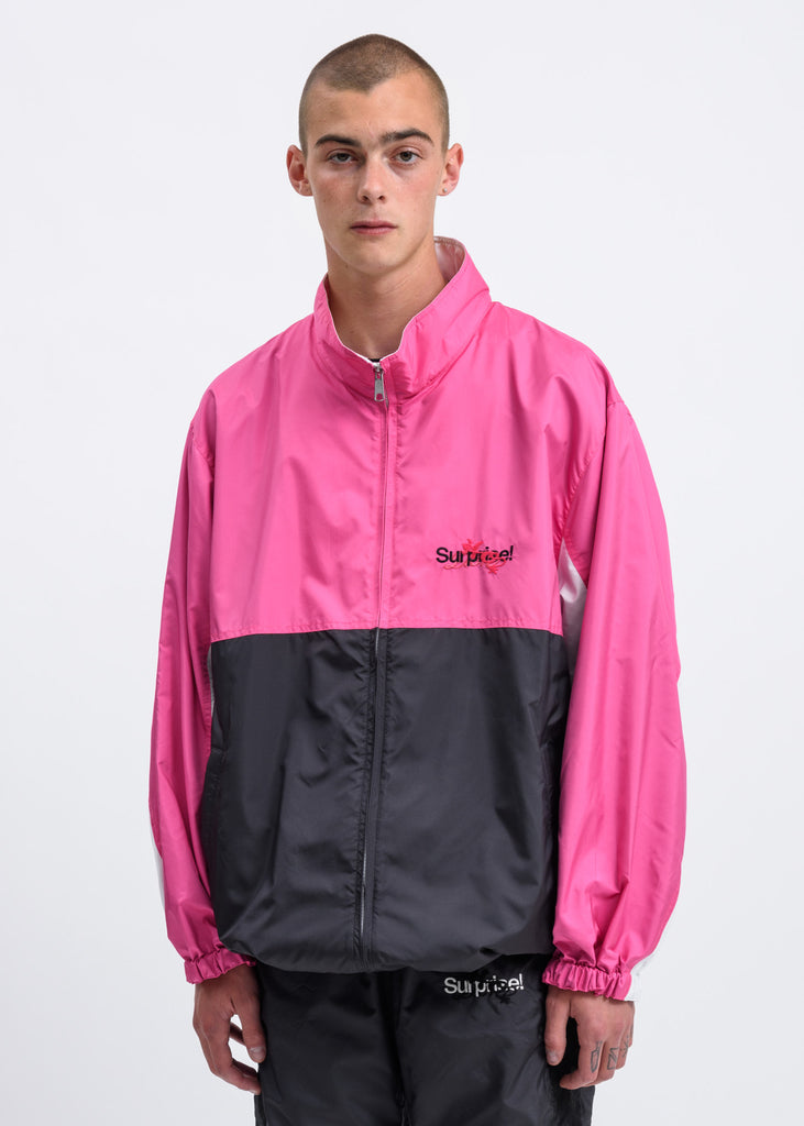 Pink Chaos Embroidery Track Jacket