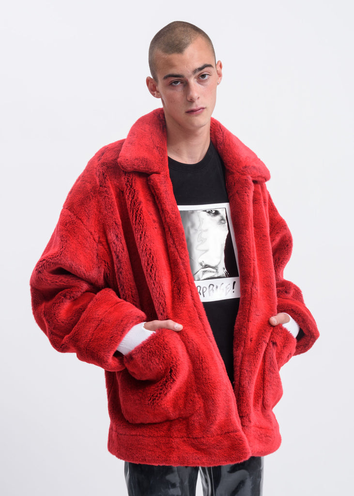 Doublet, Red Hand Painted Fur Jacket, 017 Shop