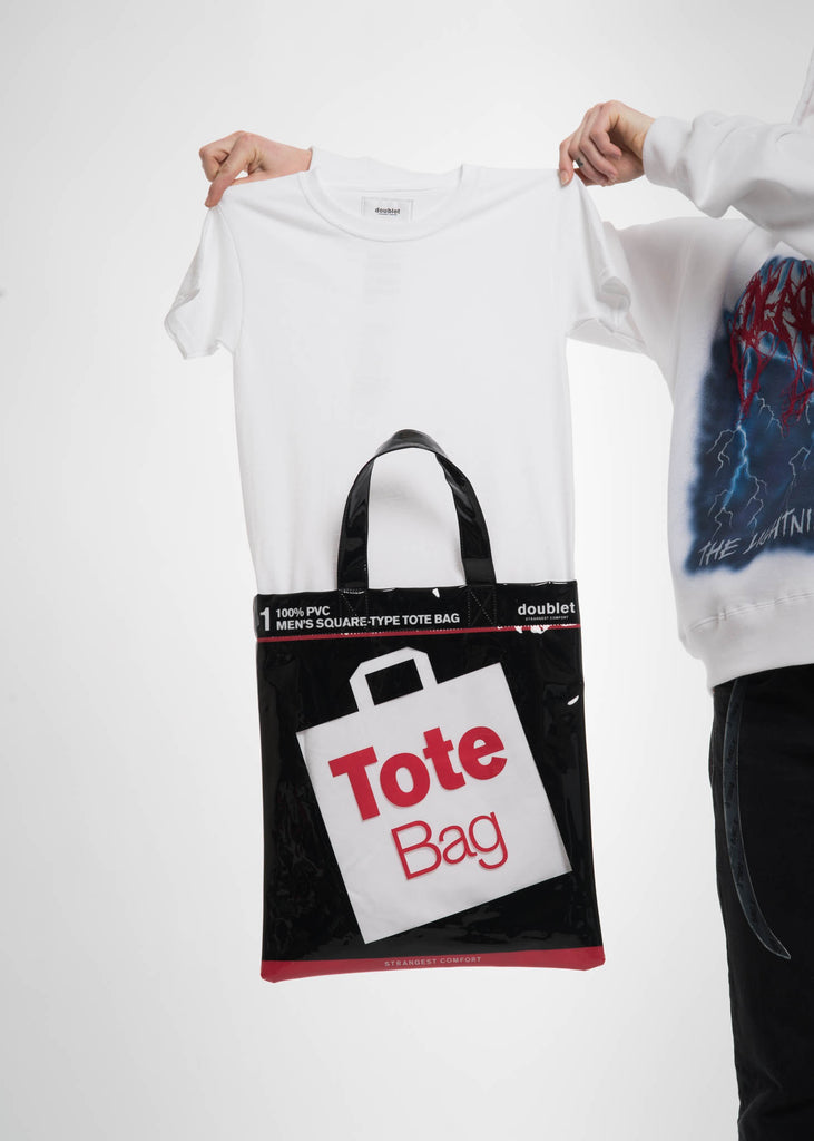White Deadstock Tote Bag