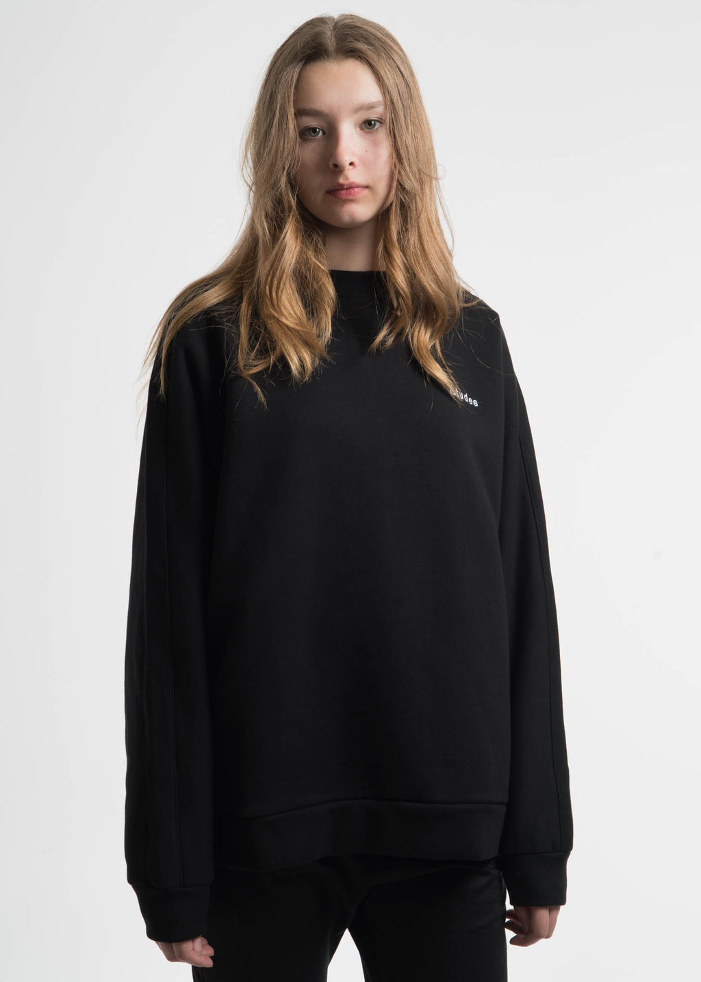Etudes, Black Maybe Fleece Crewneck, 017 Shop