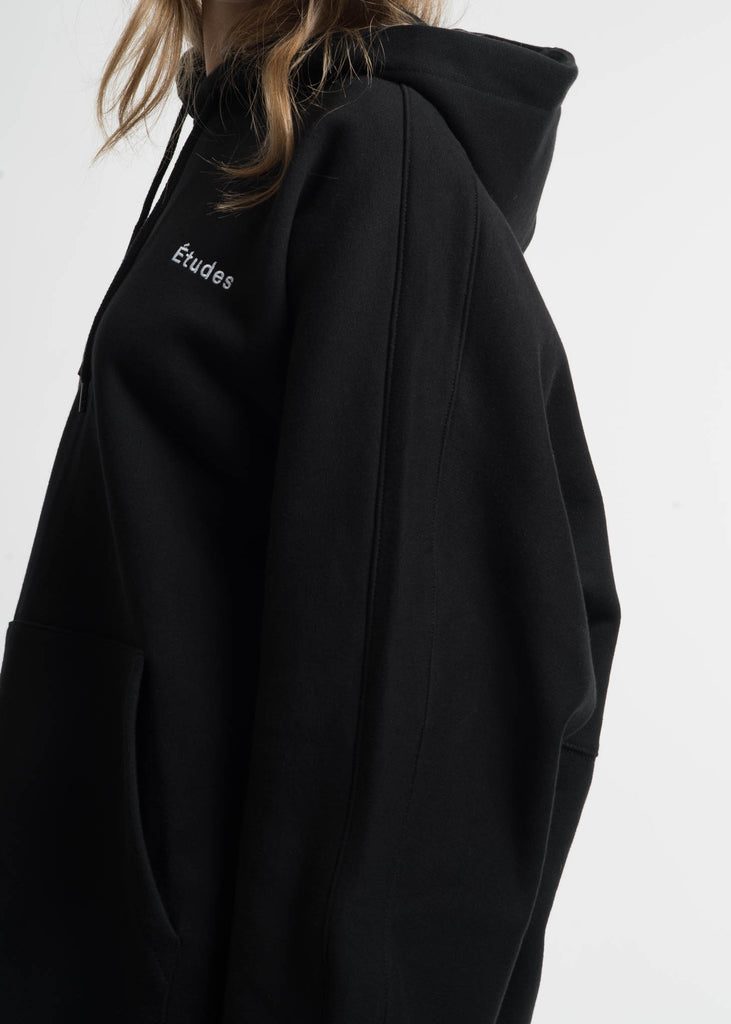 Etudes, Black Maybe Fleece Hoodie, 017 Shop