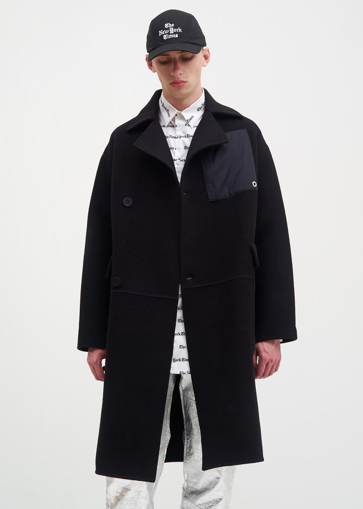 Etudes, Black Surface Alpaca Coat, 017 Shop