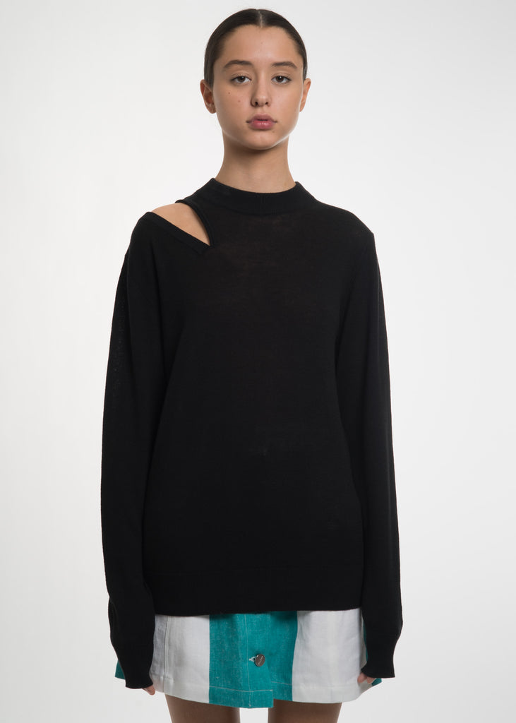 Etudes, Black TV Knit Top, 017 Shop