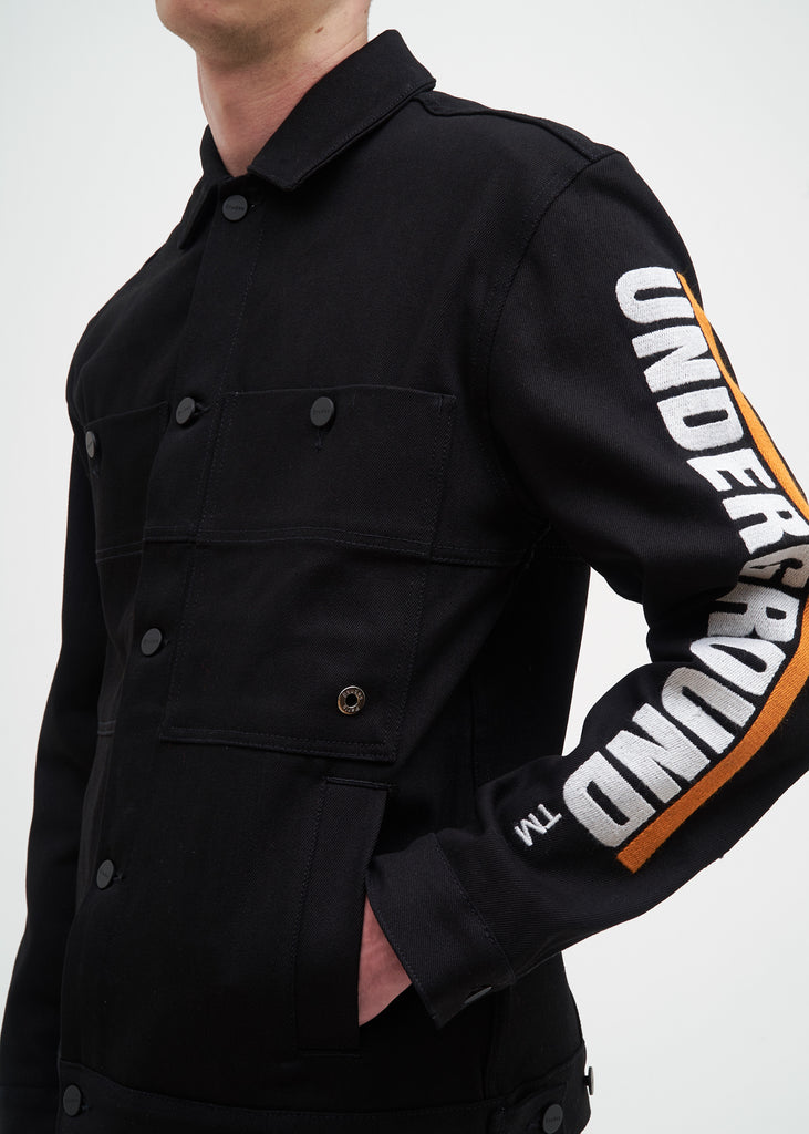 Etudes, Black Underground Guest Denim Jacket, 017 Shop