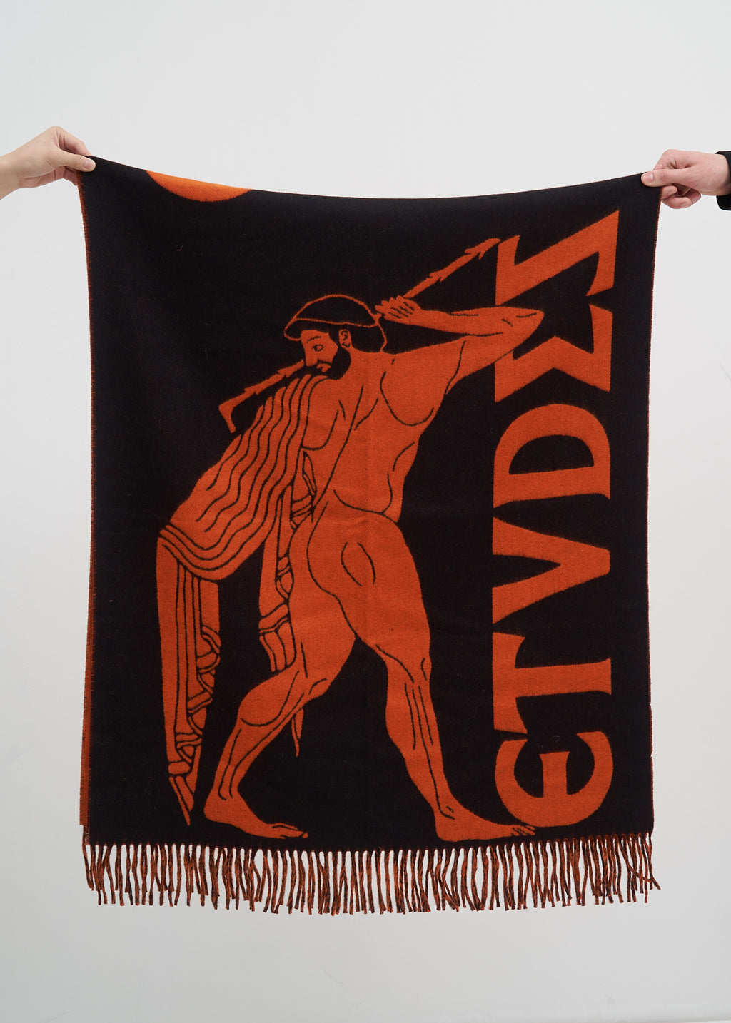 Black and Orange Attika Scarf