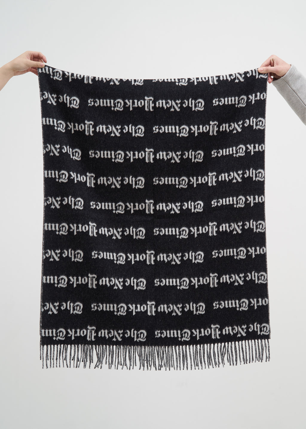 Black and White New York Times Scarf