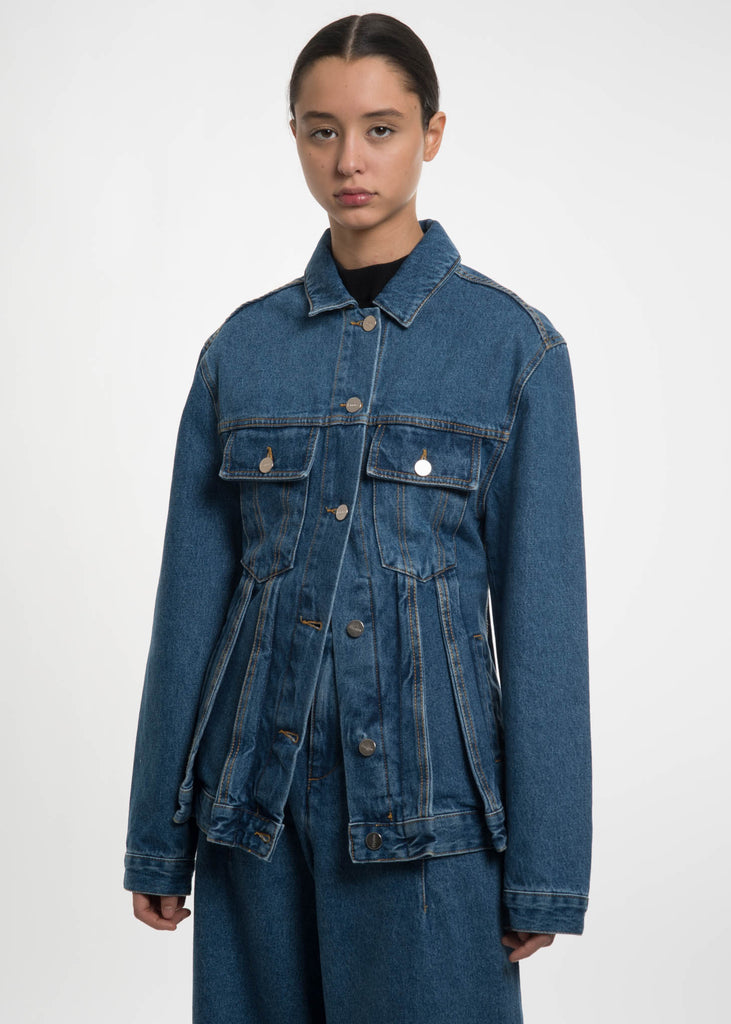 Blue Coup De Foudre Stone Wash Jacket