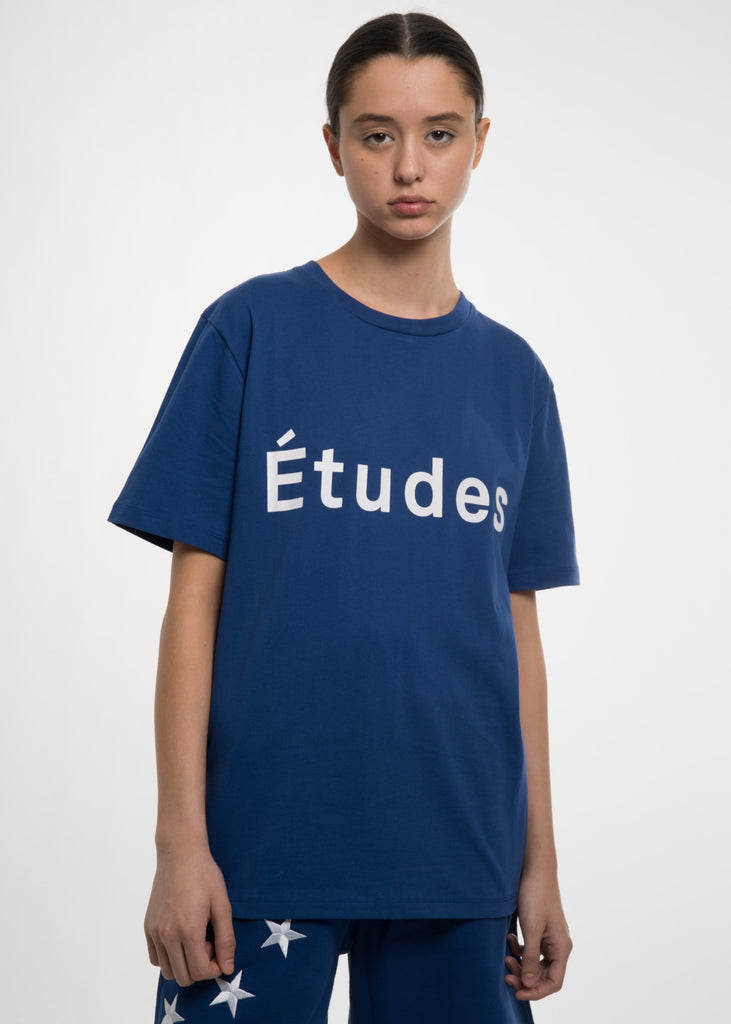 Etudes, Blue Etudes Page T-Shirt, 017 Shop