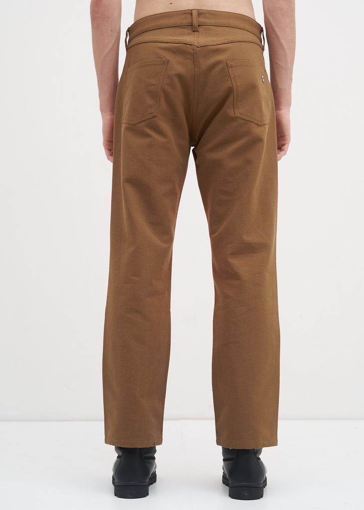 Camel Corner Canvas Trousers