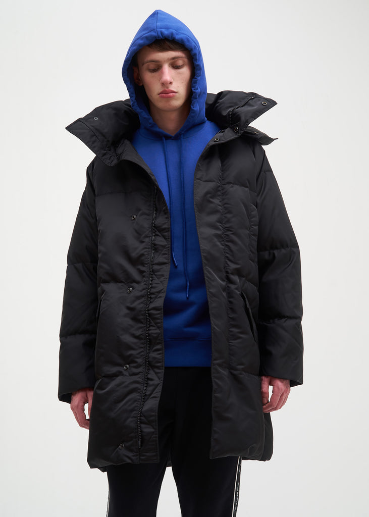 Black Ruin Nylon Down Jacket