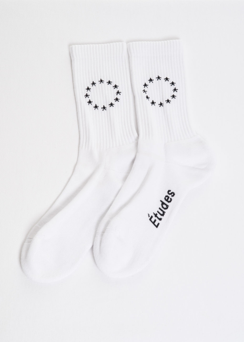 Etudes, White Europa Track Socks, 017 Shop