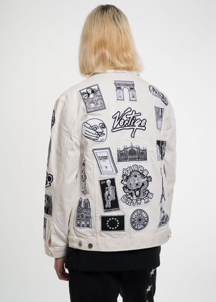 Etudes, White Guest Patch Denim Jacket, 017 Shop