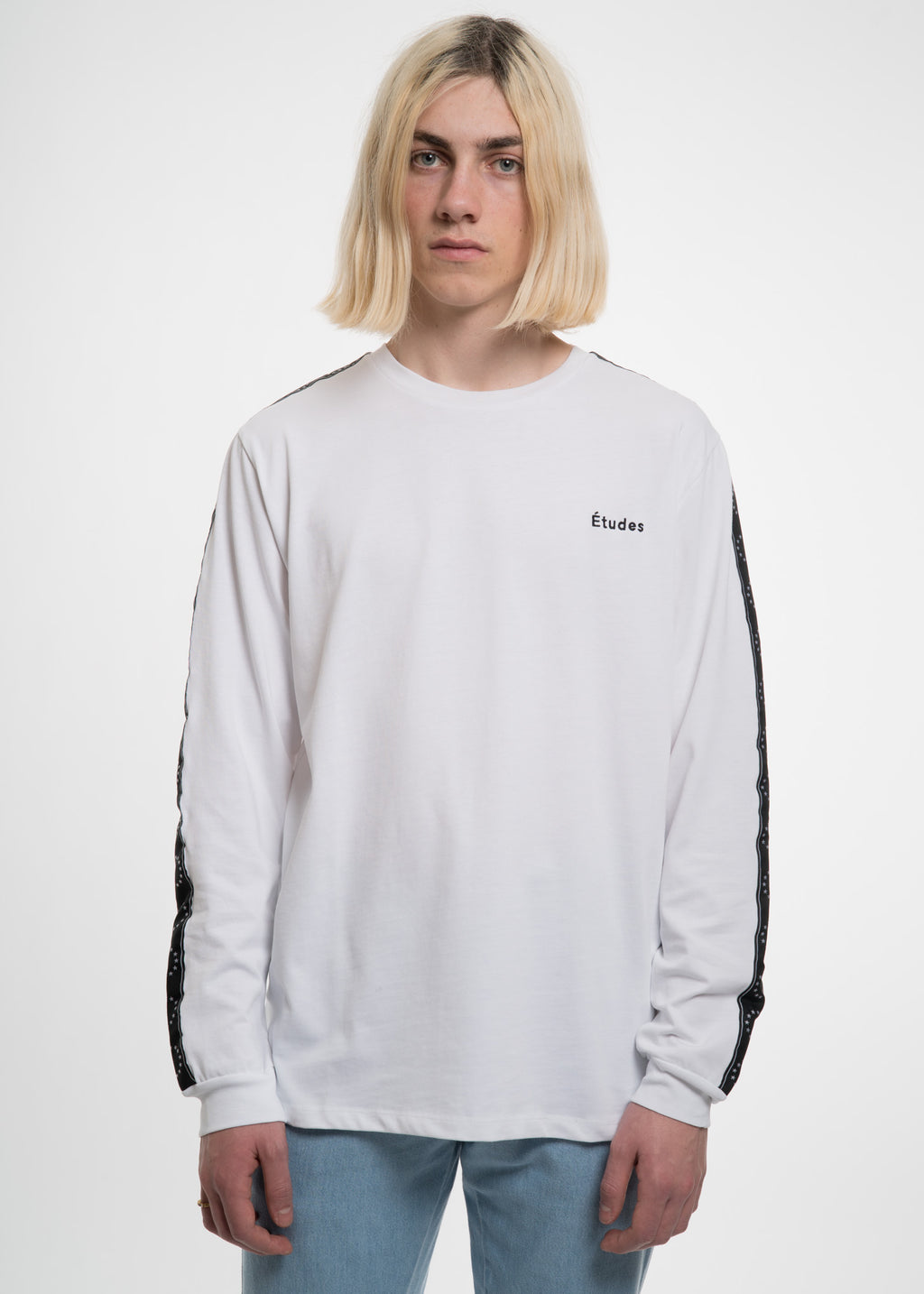Etudes, White Page ML Team T-Shirt, 017 Shop