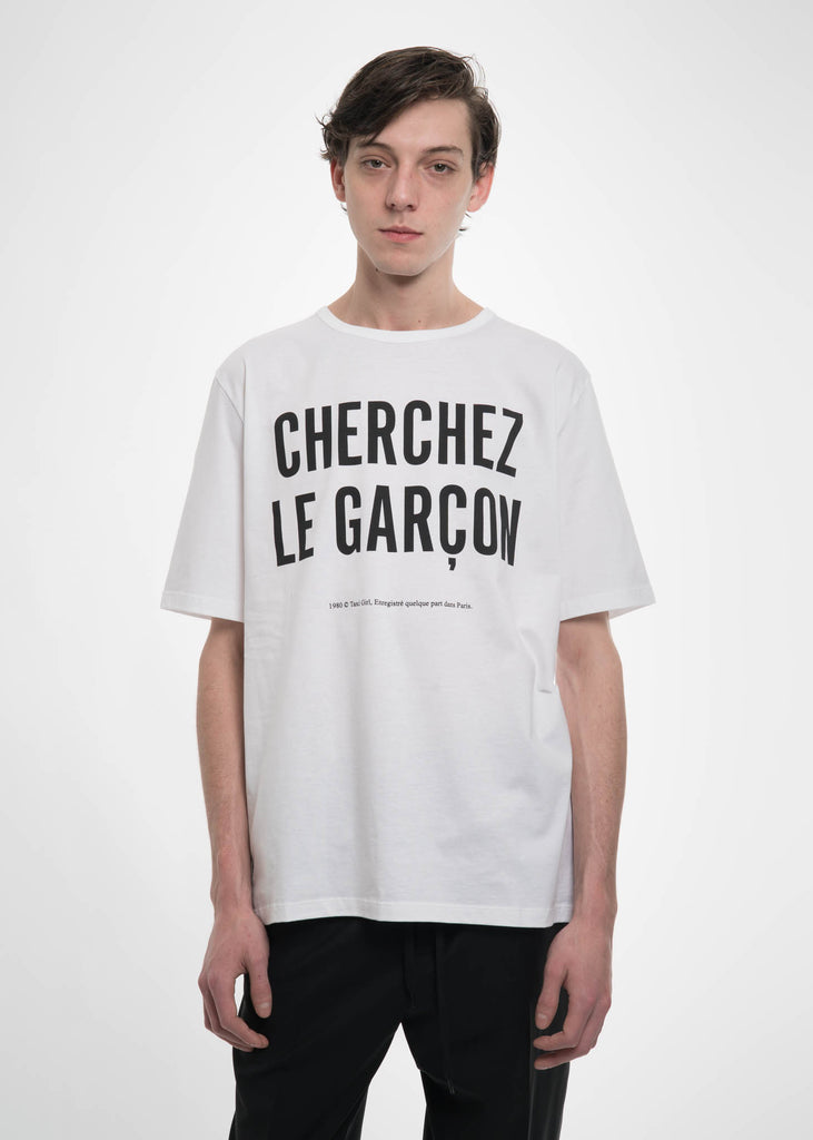 Etudes, White Unity Garcon T-Shirt, 017 Shop