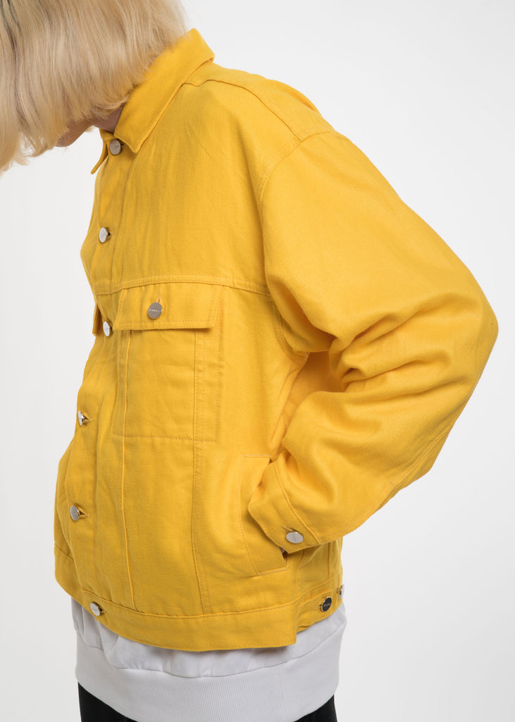 Yellow Vertige Linen Denim Jacket
