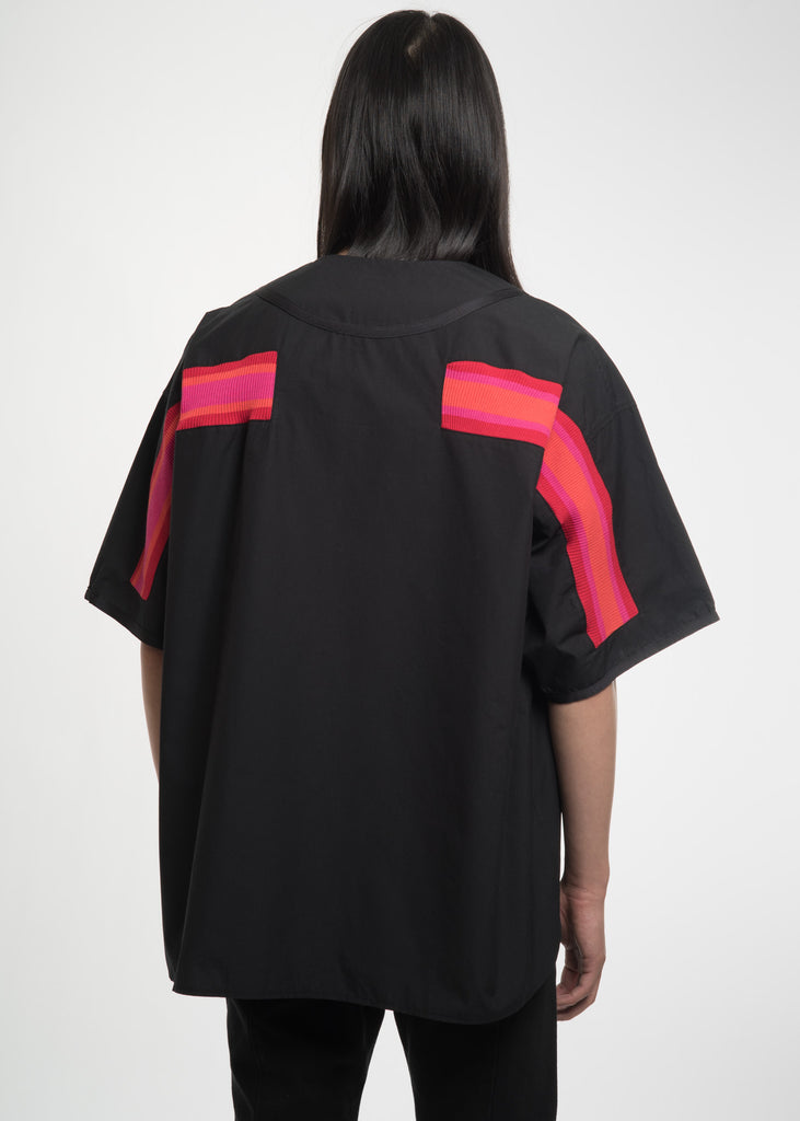 Facetasm, Black Rib Baseball Jersey, 017 Shop