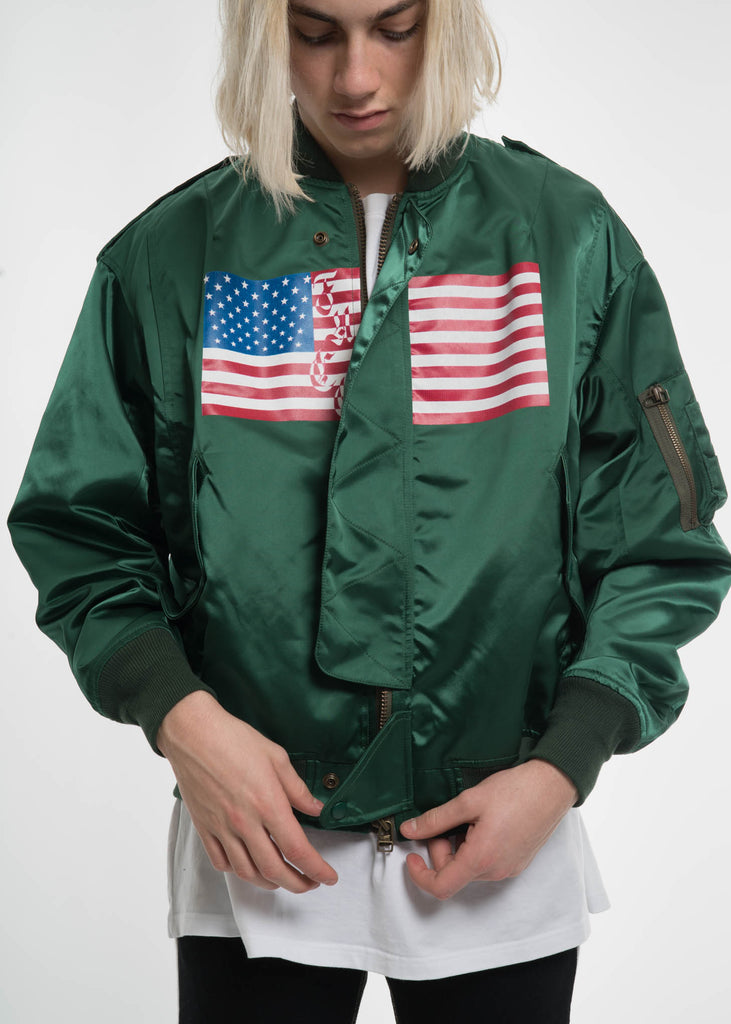 Green USA Bomber
