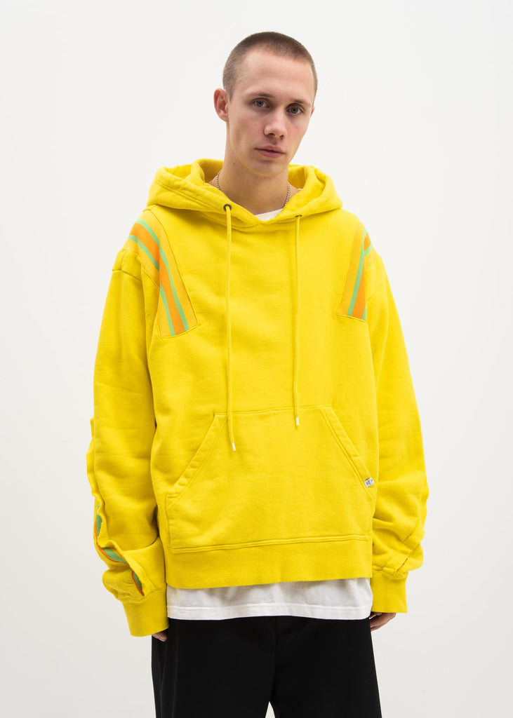 Facetasm, Yellow Taping Hoodie, 017 Shop