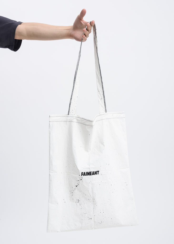 White Splatter Tote Bag