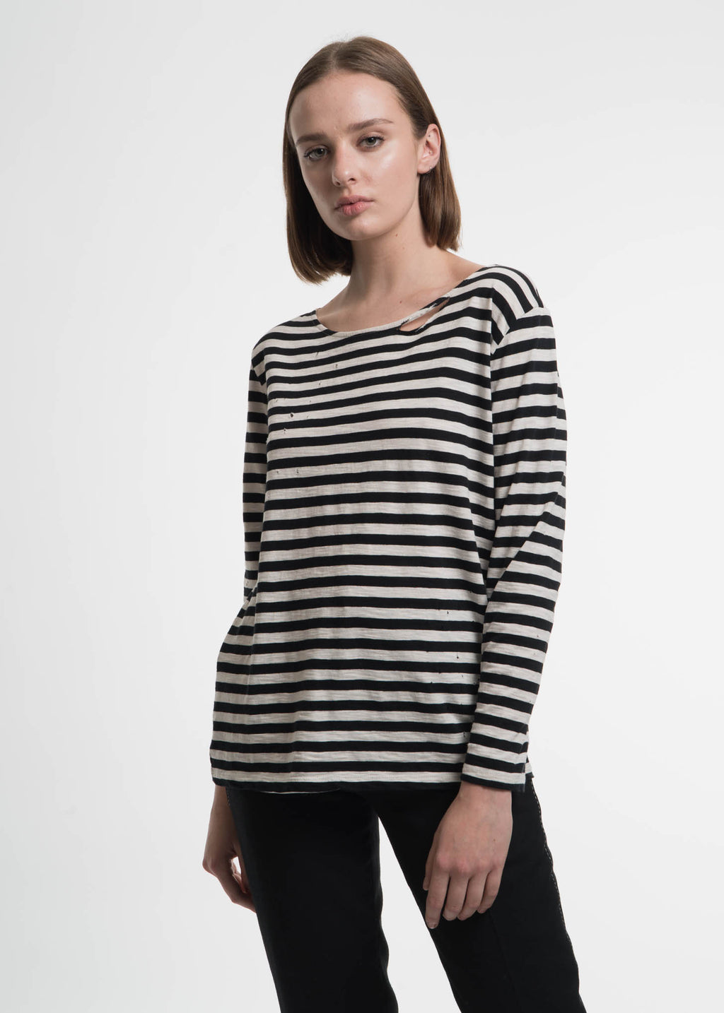 Garcons Infideles, Kurt Striped Long Sleeve, 017 Shop