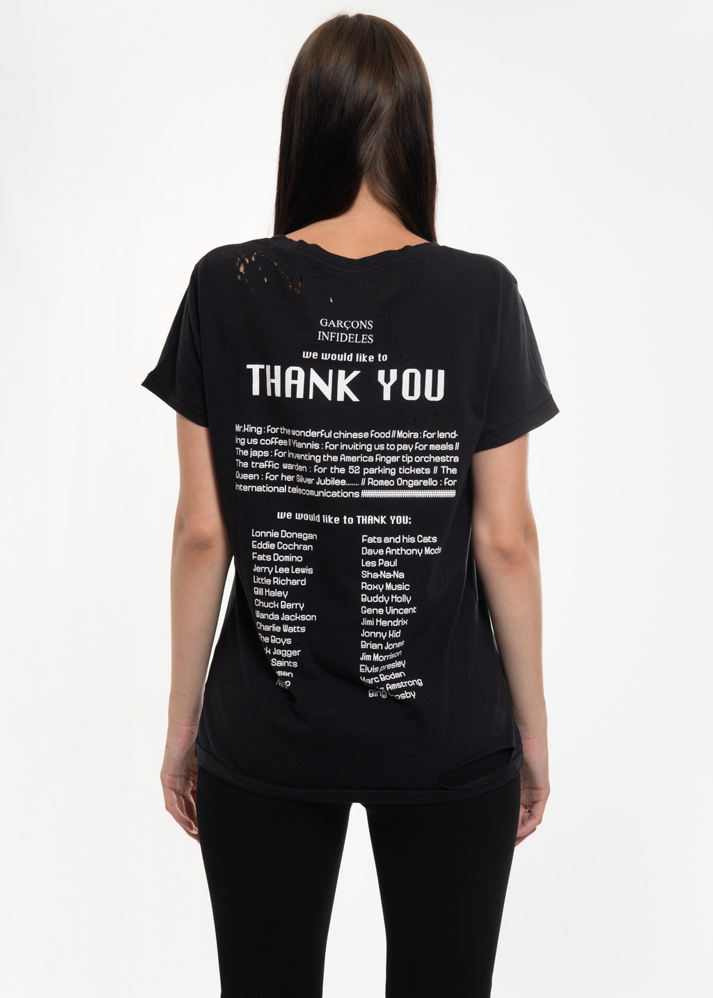 Black Thank You T-Shirt