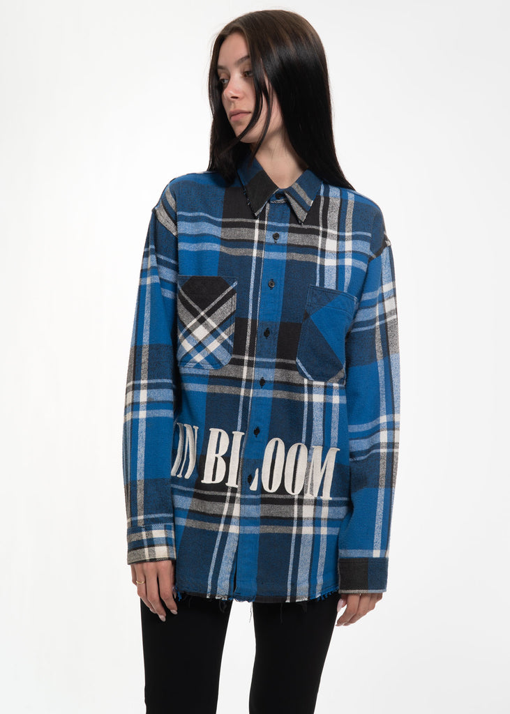 Blue Check Vintage Flannel w/ Embroidery 2 Blue Check Vintage Flannel w/  Embroidery 2. Garcons Infideles