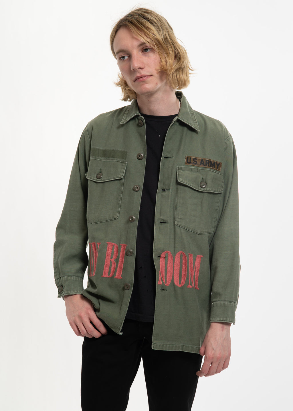 Olive Vintage Military w/ Embroidery 1