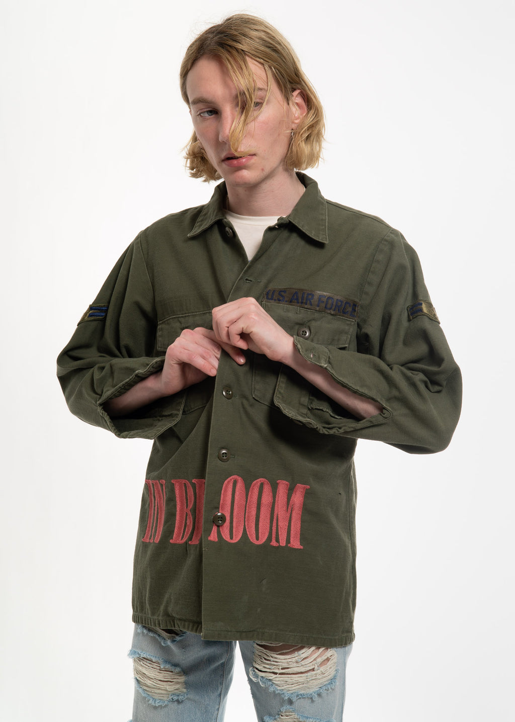 Olive Vintage Military w/ Embroidery 2