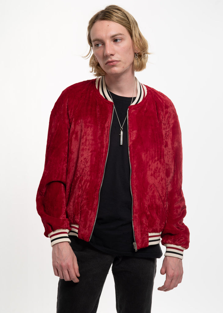 Red Velour Jamie Teddy Jacket