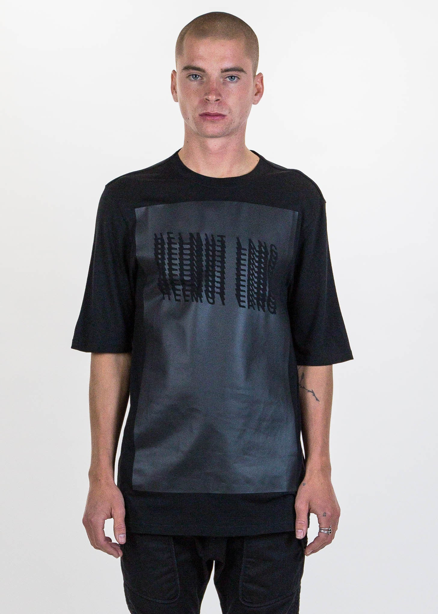 Black Glitch Logo T-Shirt