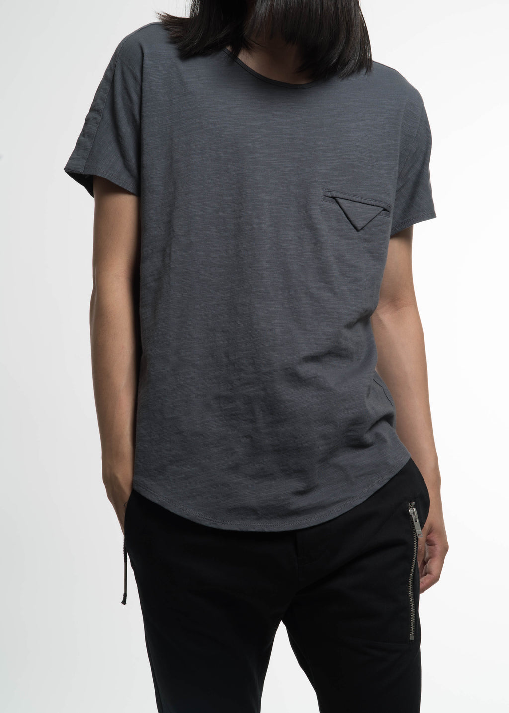 Siki Im, Grey Kimono Taped T-Shirt, 017 Shop