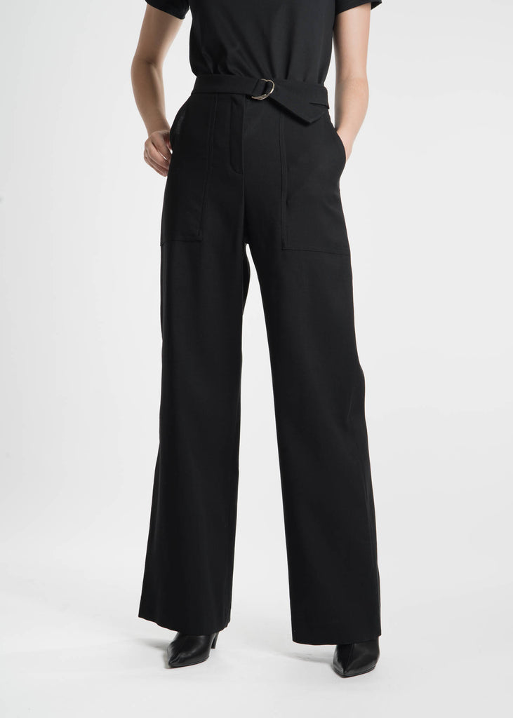 Harmony, Black Phillipine Wool Trousers, 017 Shop