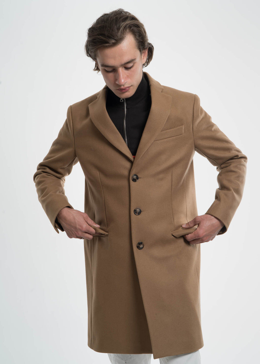 Camel Magnus Wool Coat
