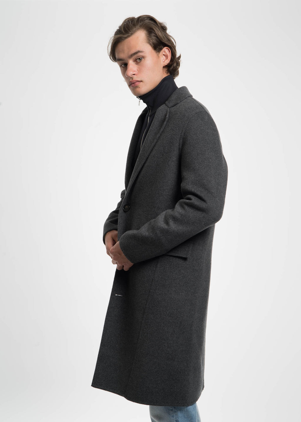 Harmony, Dark Grey Martin Cashmere Coat, 017 Shop