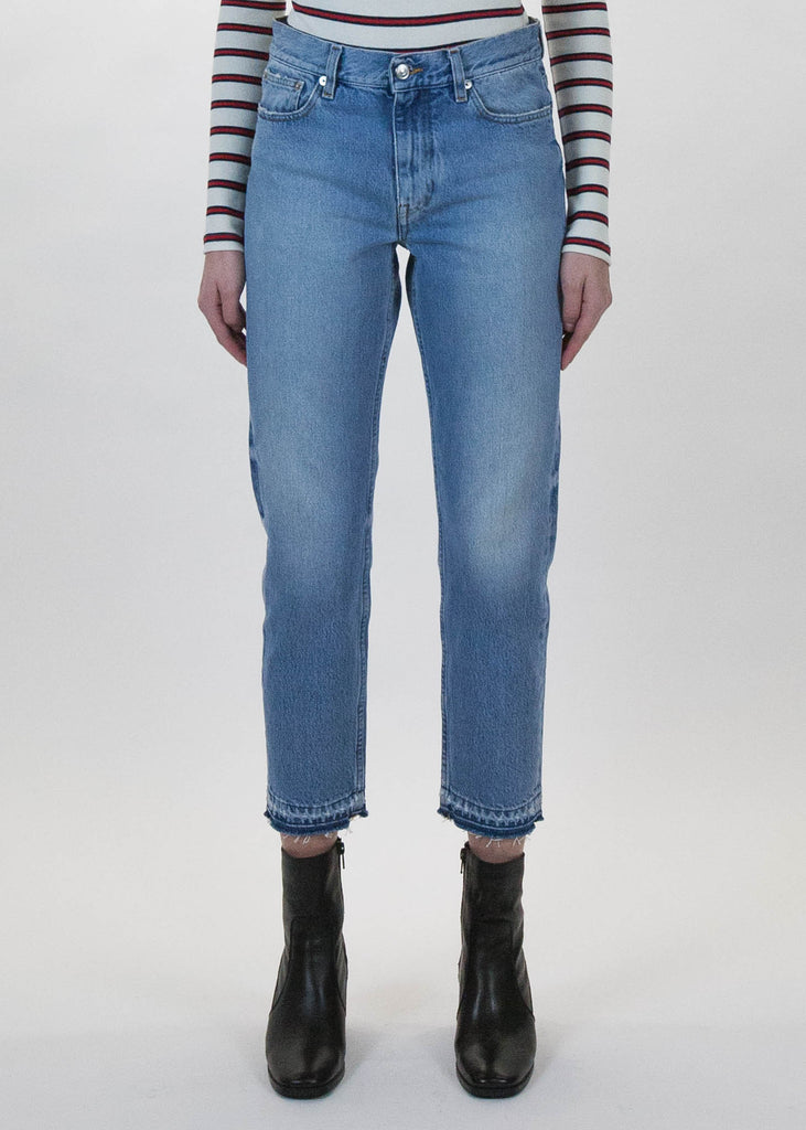 Dolores Cropped Frayed Hem Jeans