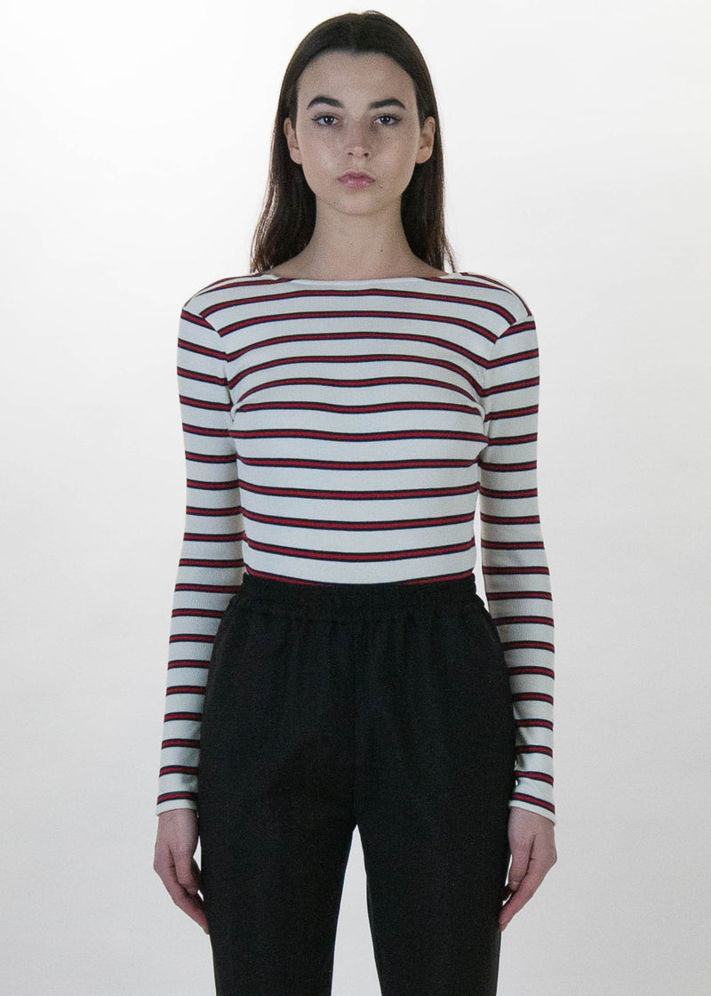 Ecru Striped Tanya Bodysuit