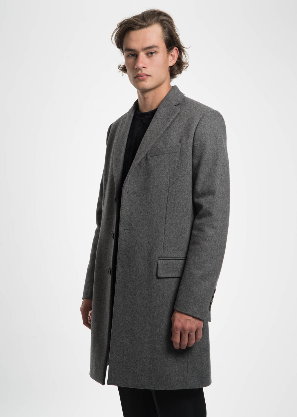 Grey Magnus Wool Coat