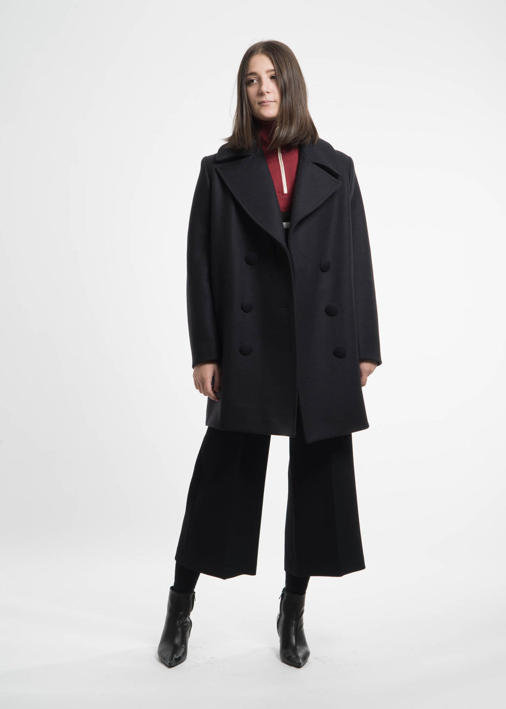 Harmony, Mahaut Wool Coat, 017 Shop
