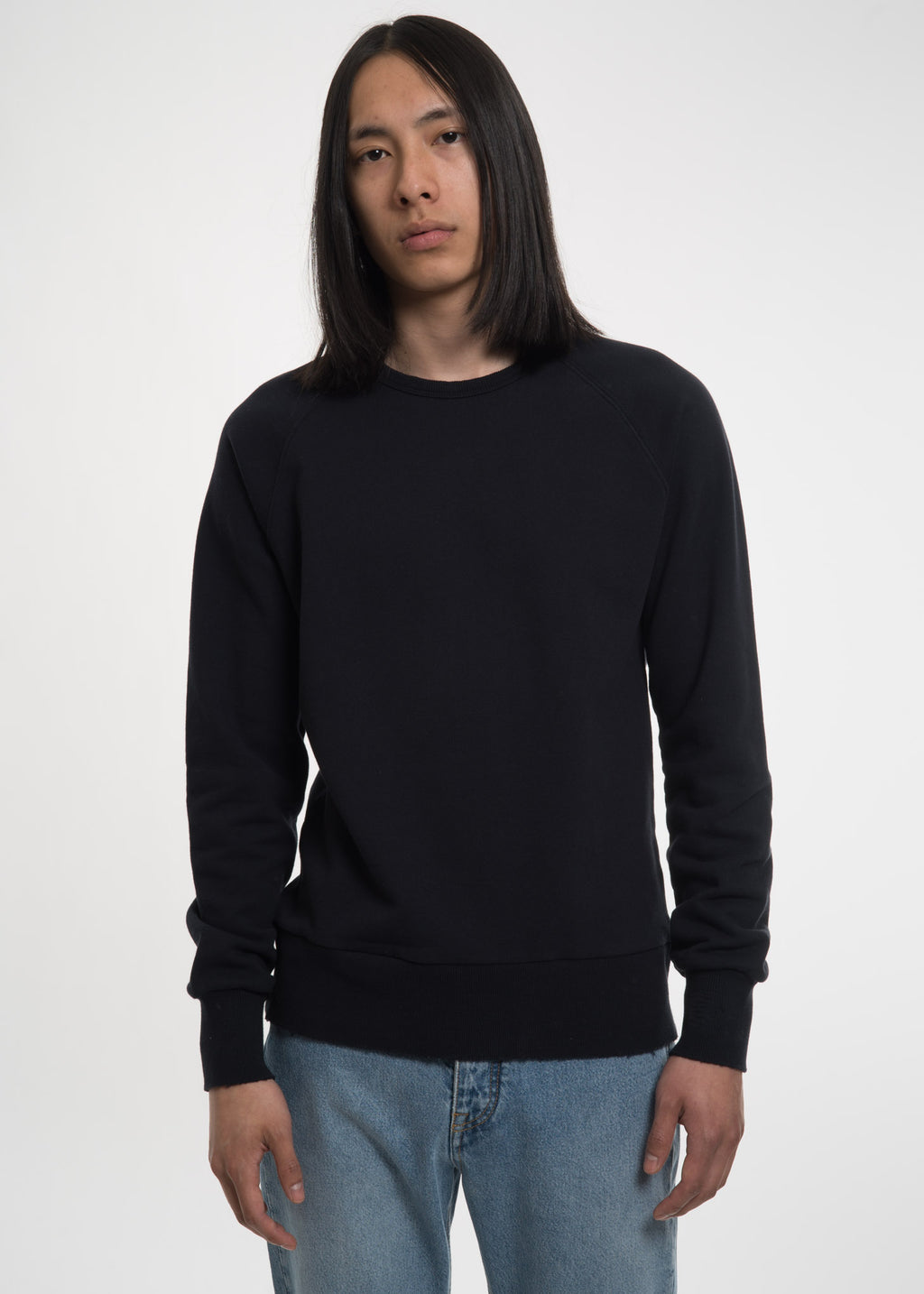 Navy Distressed Sevan Sweatshirt