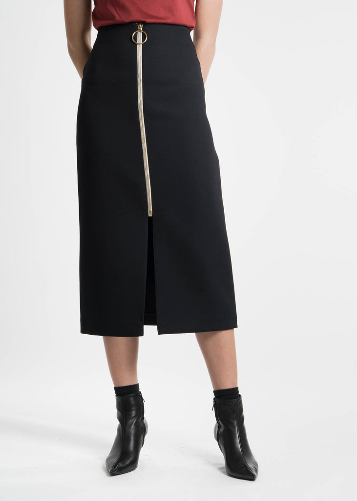 Harmony, Navy Janisse Skirt, 017 Shop