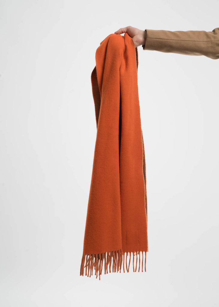 Harmony, Orange and Camel Angel Wool Scarf, 017 Shop