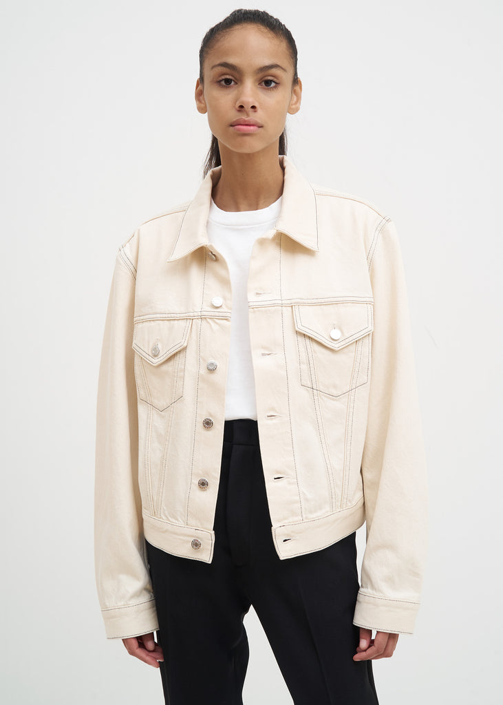 Beige Masc Trucker Jacket
