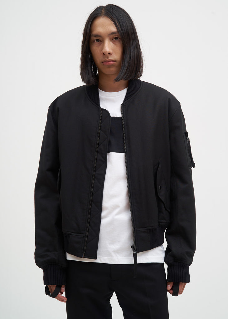 Helmut Lang, Black Bondage Bomber Jacket (Re-Edition), 017 Shop