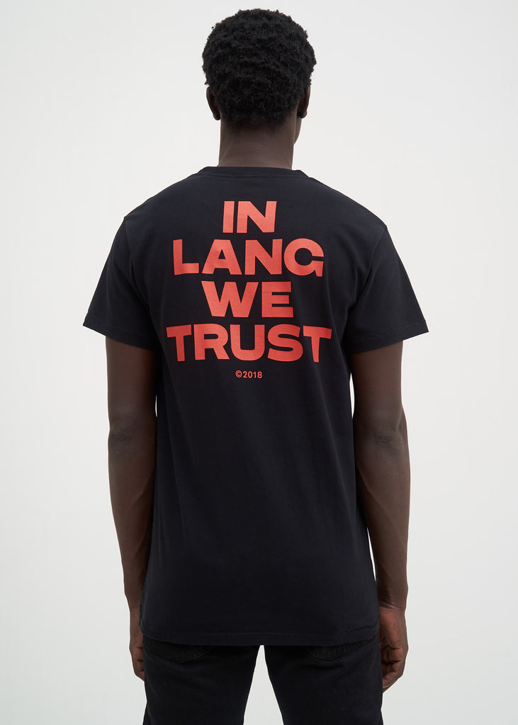 Helmut Lang, Black Brian Roettinger Logo Hack T-Shirt, 017 Shop