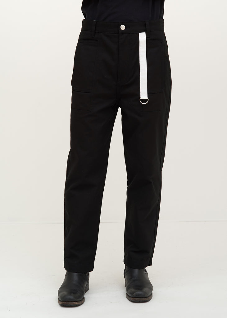 Helmut Lang, Black Cropped Canvas Pant, 017 Shop