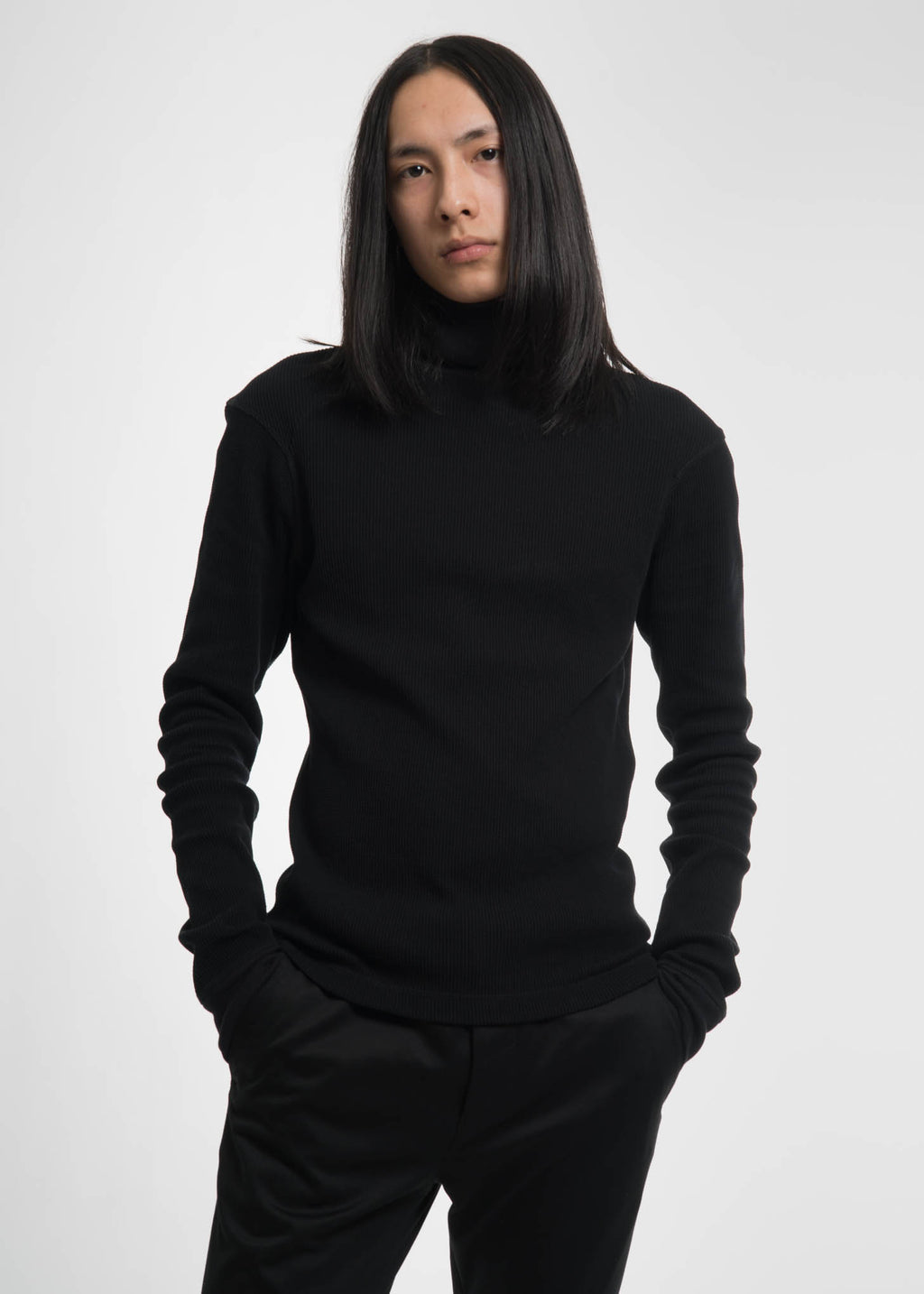 Helmut Lang, Black Dart Sleeve Turtleneck, 017 Shop