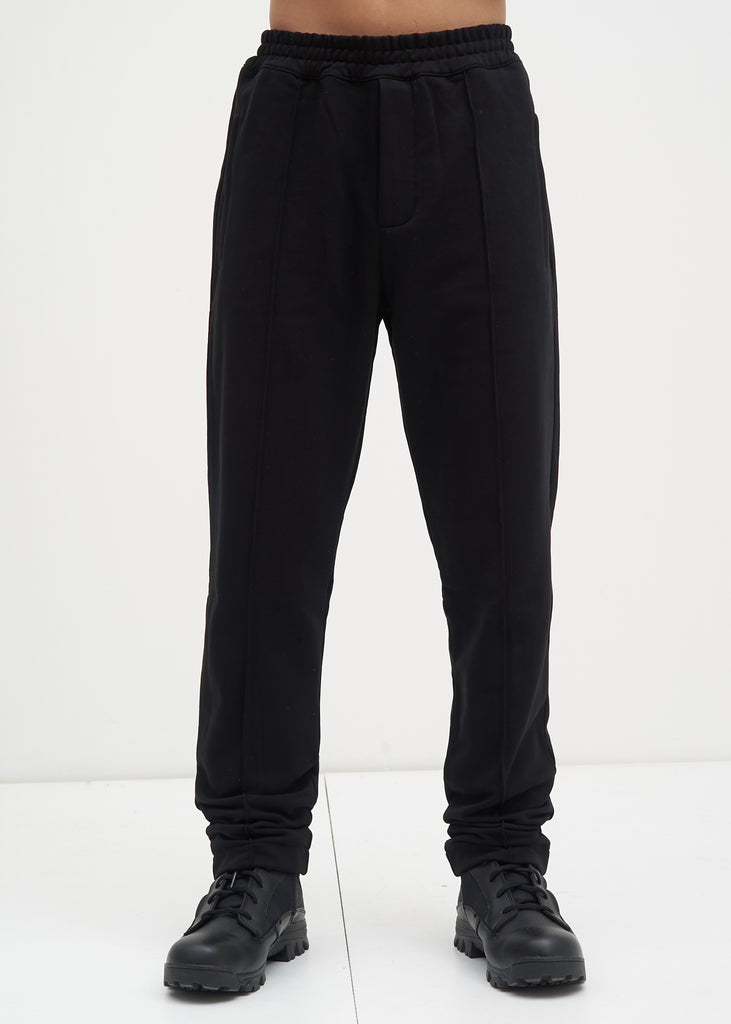 Black Darted Leg Jogger